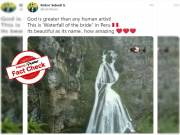 Fact Check: True, 'waterfall of the bride' is located in Peru